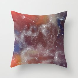 Cosmic seeds Throw Pillow