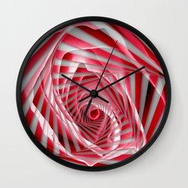 Pink Rose Spiral Wall Clock