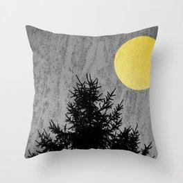 Dark pine tree Throw Pillow
