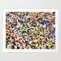 sprinkles Art Prints featuring Sprinkles by Electric Avenue