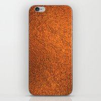 gold foil iPhone & iPod Skins featuring Gold Foil Texture 4 by Robin Curtiss