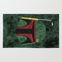 boba Area & Throw Rugs featuring Boba Fett by Some_Designs