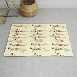 Old Fashioned Swimming Lessons Rug