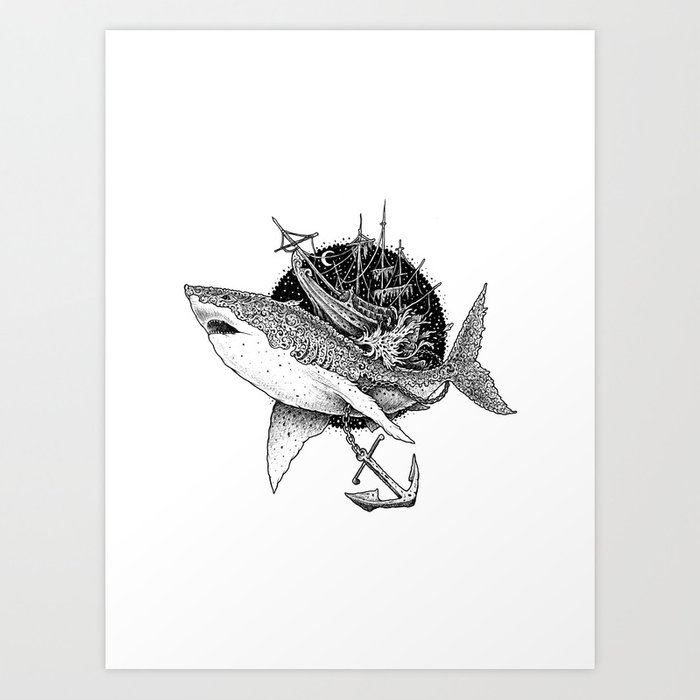 Shark of the Midnite Story Kunstdrucke