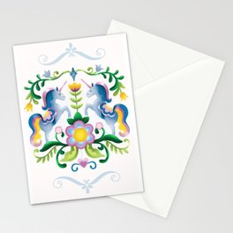 The Royal Society Of Cute Unicorns Light Background Stationery Cards