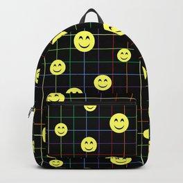 Colorful Smiley Emoji 4 - black Backpack