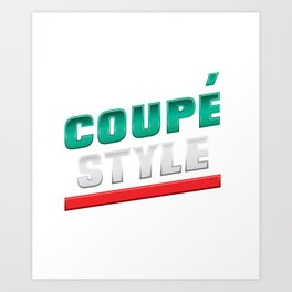 Coupe Style Art Print