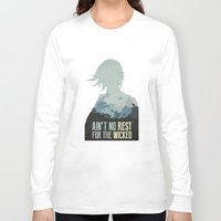 borderlands Long Sleeve T-shirts featuring Borderlands 2 - Ain't No Rest for the Wicked by Art of Peach