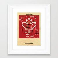 canada Framed Art Prints featuring Canada by federico babina