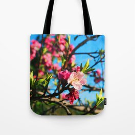 Grandma's Pink Flowers Tote Bag