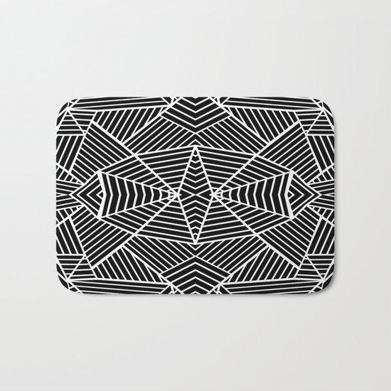 Ab Zoom Mirror Black Bath Mat