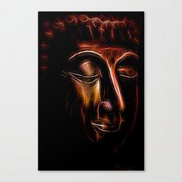 Buddha Face three Canvas Print
