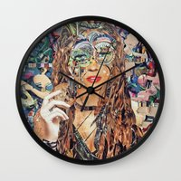 cookie Wall Clocks featuring Cookie by Katy Hirschfeld