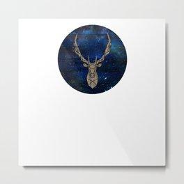 Geometric Space Elk Metal Print