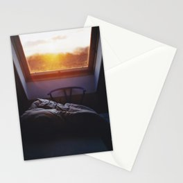 Sunset in bed Stationery Cards
