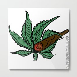 Leafy Backwood Metal Print