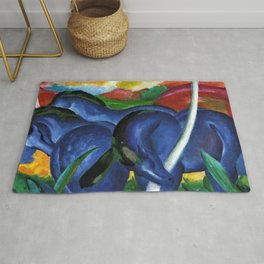 The Large Blue Horse by Franz Marc Rug