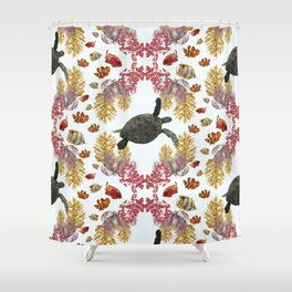 Coral Diamonds Shower Curtain