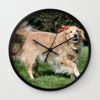 happiness Wall Clocks featuring Happiness by IowaShots