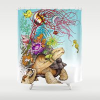 return Shower Curtains featuring Return To The Sea by TAOJB
