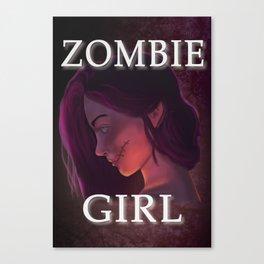 Zombie Girl Canvas Print