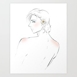 laurent and the flower - captive prince Art Print