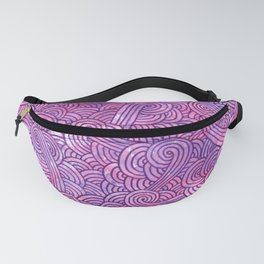 Hot pink and purple swirls doodles Fanny Pack