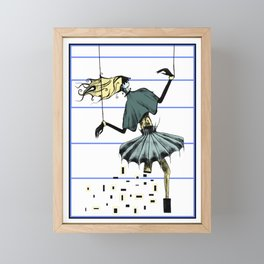 Ballerina without  the leg Framed Mini Art Print
