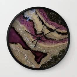 Purple Sparkle, geode resin artwork Wall Clock