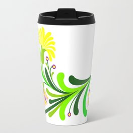 Abstract floral decoration Travel Mug