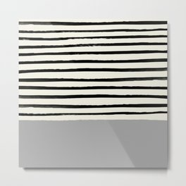 Storm Grey x Stripes Metal Print