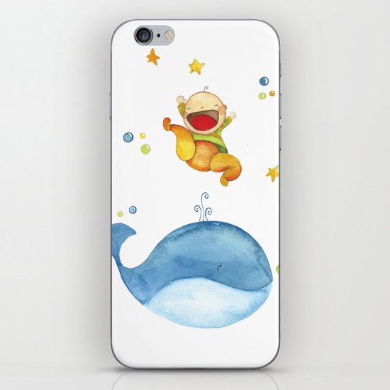 Baby whale iPhone & iPod Skin