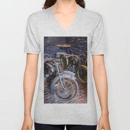 1920s Motorcycles Unisex V-Neck