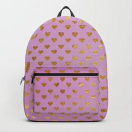 Gold Hearts Passion Pink Backpack