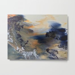 Between the mountains the river runs wid Metal Print