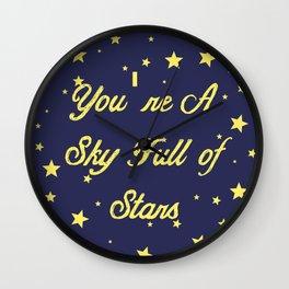Sky Full Of Stars Wall Clock