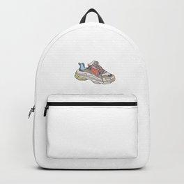 Balenciaga Triple S Sneaker Pattern Illustration Backpack