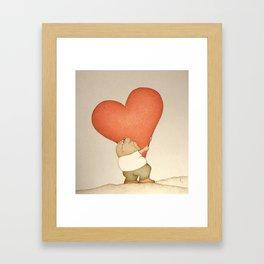 Heavy Heart (Retro version) Framed Art Print