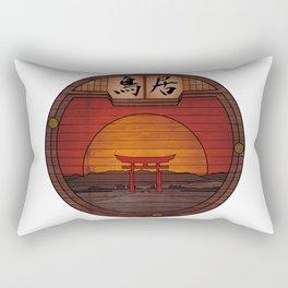 Japanese Torii - Round Landscapes #2 Rectangular Pillow