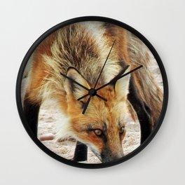 Fox Portrait Wall Clock