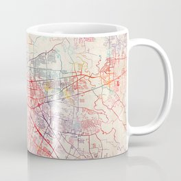 Baton Rouge map Louisiana painting square Coffee Mug