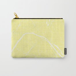 Paris France Minimal Street Map - Yellow on White Carry-All Pouch