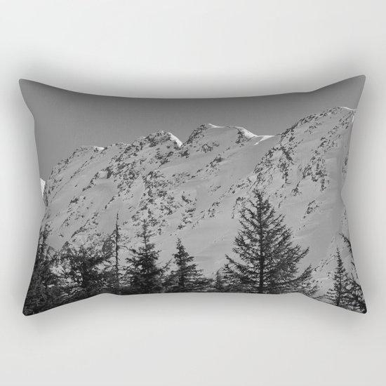 Gwin's Winter Vista - B & W Rectangular Pillow