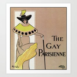 Vintage the Gay Parisienne Victorian theatre advertising Art Print