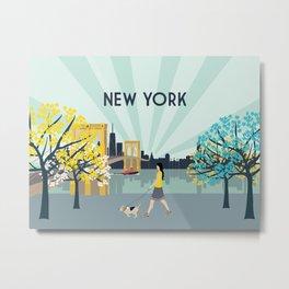 New York City Brooklyn Bridge Art Print Metal Print