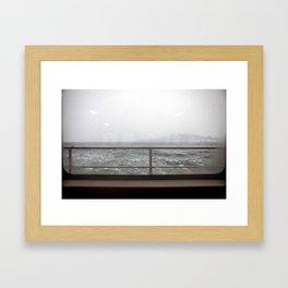 Ship in Mist Framed Art Print