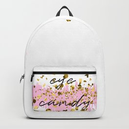 Eye candy, hipster quote design Backpack