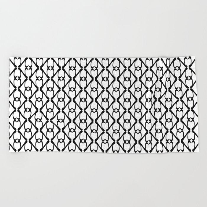 Kappa - Greek Fonts Patterns_Alphabet Beach Towel by yianart