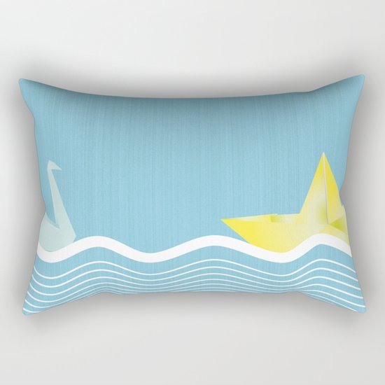 Origami summer Rectangular Pillow