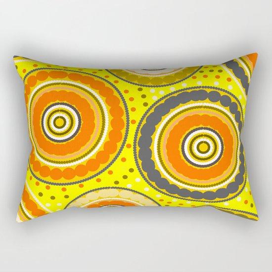 Beads and circles- aboriginal pattern Rectangular Pillow